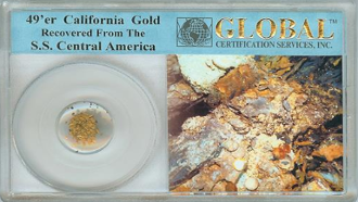 49'er CALIFORNIA GOLD RECOVERED FROM THE SS CENTRAL AMERICA SHI